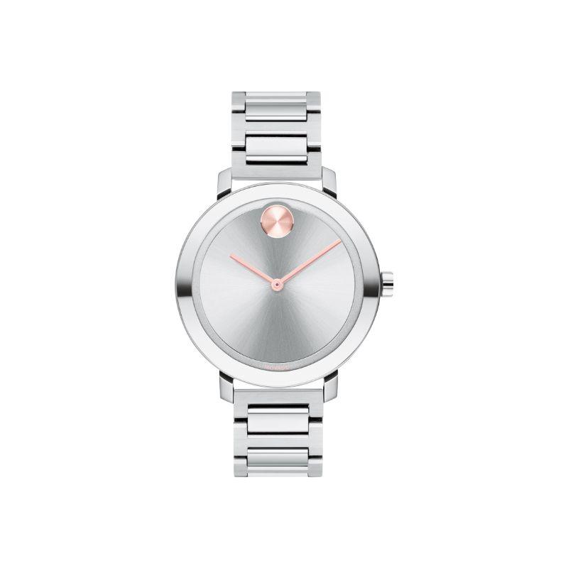 Movado Bold Evolution Silver Metallic Dial Women's Watch